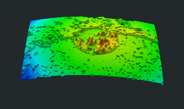 Interferometric image of fiber optic endface or bulkhead endfaceCan you guess what this image is? Do you know what the image describes? How do you think this image was created?